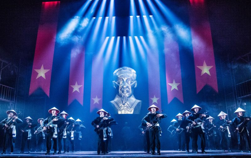 "The Company of the North American Tour of MISS SAIGON performs ""Morning of the Dragon'"