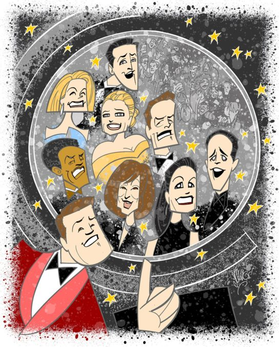 "Broadway Ink - 73rd Annual Tony Awards - 06/2019 - Illustration by Justin ""Squigs"" Robertson for Broadway.com"